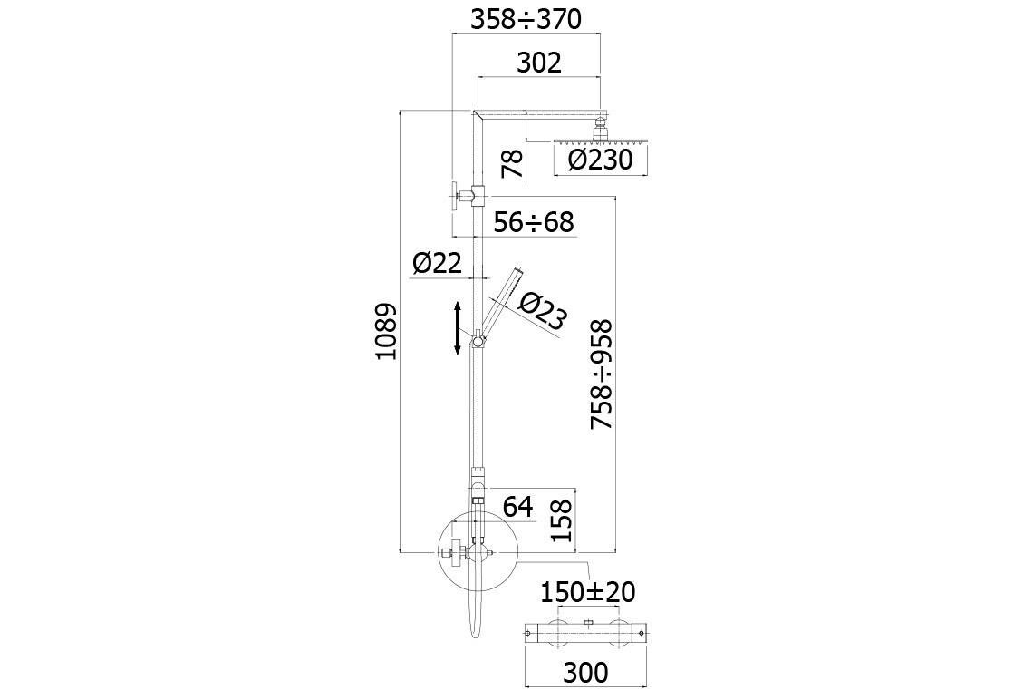 STEEL-TOP-PAFFONI-COLONNA-DOCCIA-CON-DEVIATORE-SOFFIONE-E-TERMOSTATICO_547046