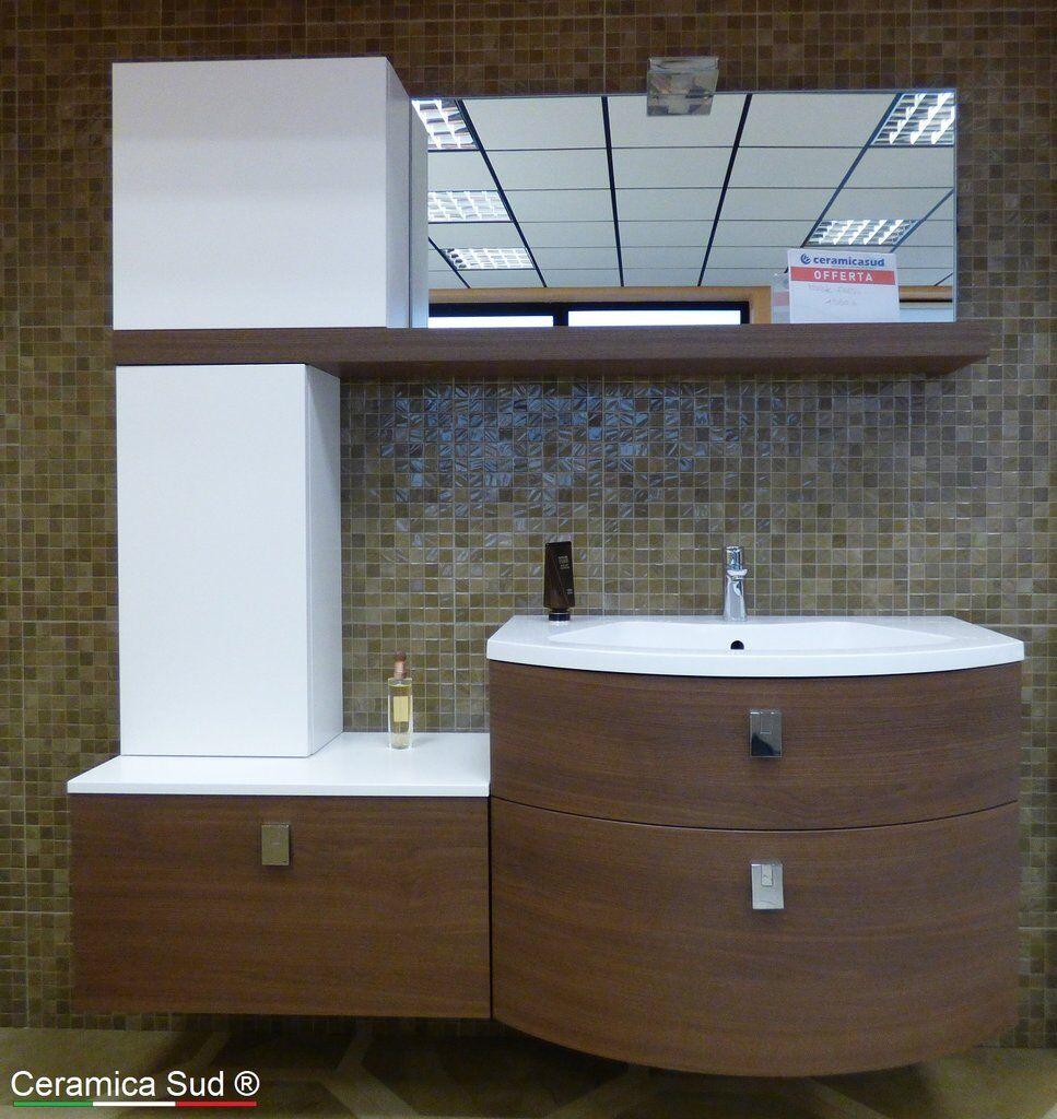 Armadietto Bagno Moderno mobile bagno moderno marrone sospeso 155 cm. italiano - best quality